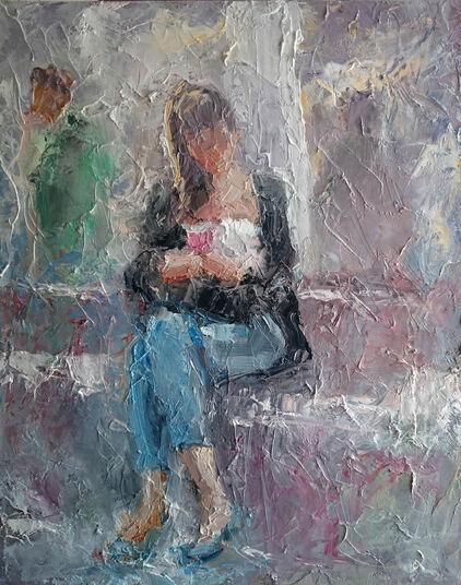 "Julije Horvatic: Bild ""Am Brunnen I"" (2016) (Unikat)"