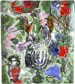 Kollektion Les Vitraux d'Hadassah von Bernardaud - Matzen Platte