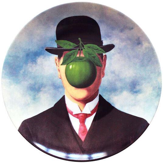 "René Magritte: Porzellanteller ""La Grande Guerre"""