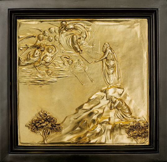 Lorenzo Ghiberti: Wall relief 'Moses Receives the Tables of the Law' (reduction)