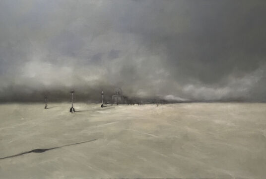 "Anne Böddeker: Bild ""Black Rock City"" (2017) (Unikat)"