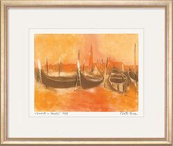 """Bild """"Gondli a Venezia"""" (2009), gerahmt"""