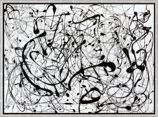 "Jackson Pollock: Bild ""Number 14: Gray"" (1948), gerahmt"