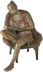 """Skulptur """"Lesende"""", Bronze"""