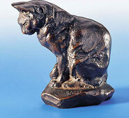 "Skulptur ""Katze"", Version in Bronze"