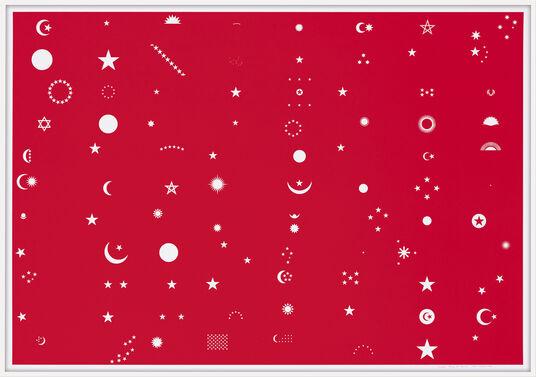 "Ole Häntzschel: Bild ""Flag of Stars (Sonne, Mond, Sterne)"" (2016)"