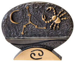 """Sternzeichen-Skulptur """"Krebs"""" (22.6.-22.7.), Bronze"""