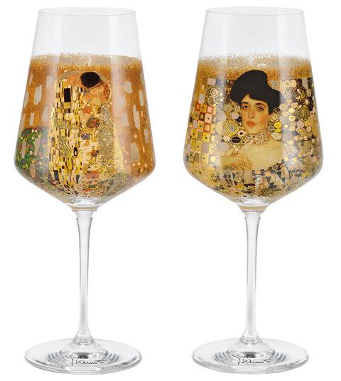 Gustav Klimt: 2 Weingläser mit Künstlermotiven im Set