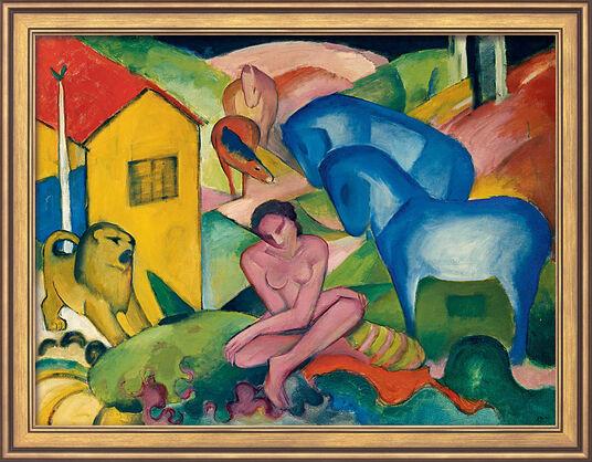 """Franz Marc: Bild """"Traum"""" (1912), gerahmt"""
