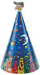 "Porcelain musical box ""A Good Fairy Christmas"" handpainted,"
