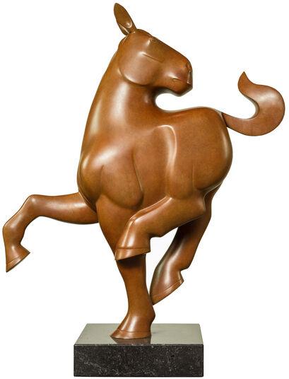 """Evert den Hartog: Skulptur """"Pferd"""", Bronze braun"""