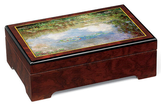 "Claude Monet: Music Jewelry Box ""Water Lilies"" - by Claude Monet"