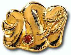 "Chinese zodiac sign ""Snake"" with birthstone jasper, necklace"