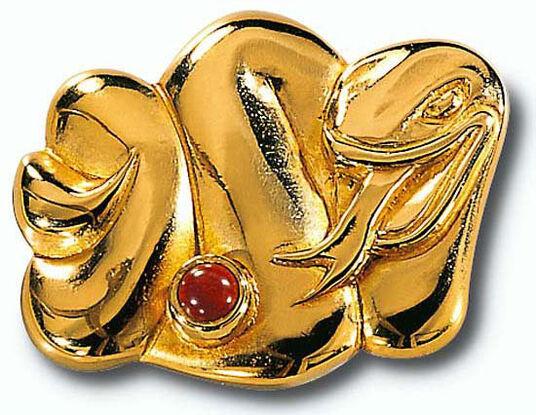 """Chinesisches Tierkreiszeichen """"Schlange"""" mit Glücksstein Jaspis, Collier"""