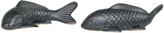 "Muriel Dioniso: 2 Keramikfiguren / Wandobjekte ""Kois"" im Set"