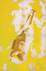 """Bild """"Flasche auf gelben Hintergrund"""" (2013)"""