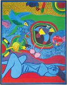 """Bild """"Le Monde en Bleu"""", gerahmt"""