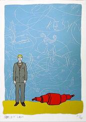 """Bild """"Blaue Wand"""" (2001), ungerahmt"""
