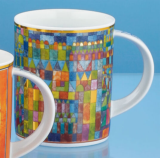 "Paul Klee: Coffee mug ""Temple quarter in Pert"" (1928)"