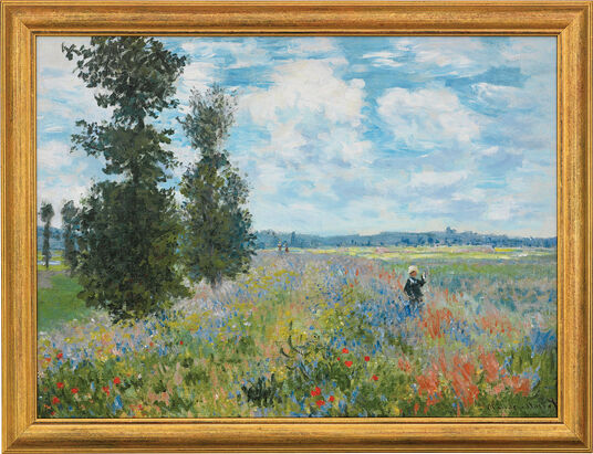 "Claude Monet: Painting ""Poppy Field in Argenteuil"" in a frame"