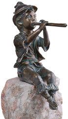 """Wasserspeier """"Antonio"""" (Version mit Stein), Bronze"""
