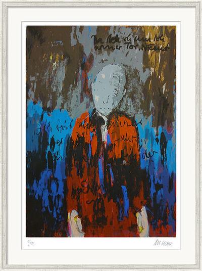 """Armin Mueller-Stahl: Bild """"Hier steh ich nun, ich armer Tor (Selbst als Faust)"""" (2014), gerahmt"""