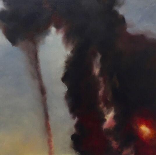 """Anne Böddeker: Bild """"Wüstenfeuer # 2"""" (2017) (Unikat)"""
