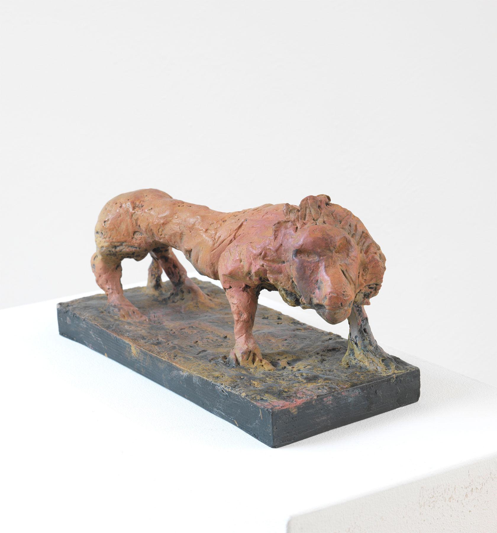 Sculpture quot lion  bronze markus luepertz
