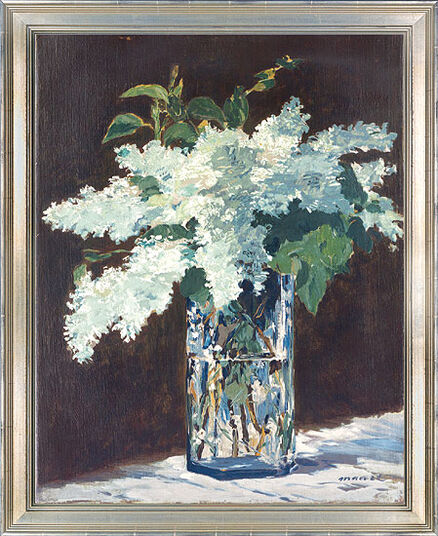 """Edouard Manet: Bild """"Der Fliederstrauß"""" (um 1882), gerahmt"""