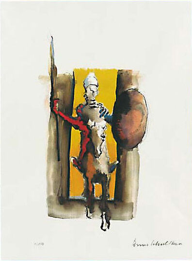 """Benno Schulthess: Picture """"Don Quixote, A Knight without Fear And Blame"""""""