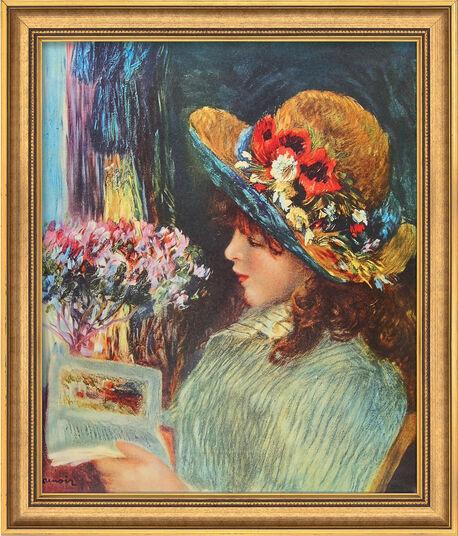 """Auguste Renoir: Bild """"Lesendes Mädchen"""" (1886), gerahmt"""