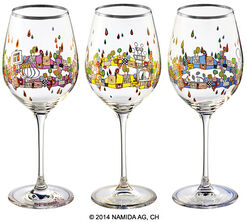 "3 Wine Glasses ""BEAUTY IS A PANACEA - Platinum - white wine"""