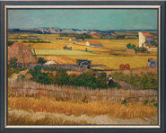 "Painting ""The field La Crau' in  Arles"" (1888), framed"