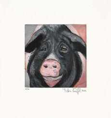 """Bild """"Schwein (schwarz)"""" (2006)"""