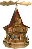 Large Manufactory - Advent House as Christmas pyramid