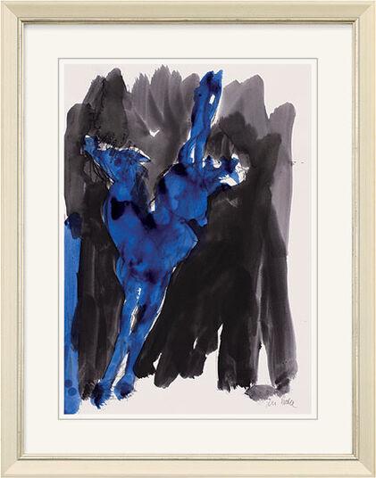 """Armin Mueller-Stahl: Bild """"Pferd blau"""" (2009)"""