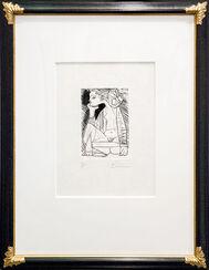 "Bild ""Femme assise en tailleur: Geneviève Laporte"" (1951)"