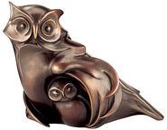 "Sculpture ""Owl with Young Bird"", bronze"