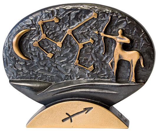 """Bernardo Esposto: Sternzeichen-Skulptur """"Schütze"""" (23.11.-21.12.), Bronze"""