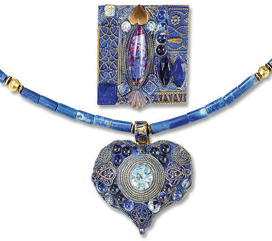 Petra Waszak: Jewelry set 'Tribute to Emily' - after Gustav Klimt