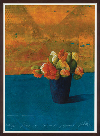 "Wolfgang Zelmer: Bild ""Vaso con mazzo di papaveri 1/VIII"" (2014) (Unikat)"