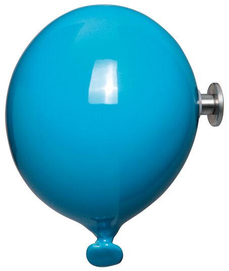 """Kleiderhaken / Wandobjekt """"Mini Balloon azur"""", Keramik"""