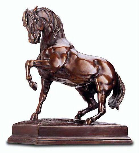 """Antoine-Louis Barye: Skulptur """"Stampfendes Pferd"""" (Originalgröße), Bronze"""