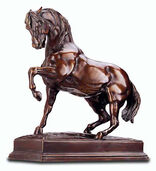 "Sculpture ""Stomping horse"", reduction in bronze Fine Art"