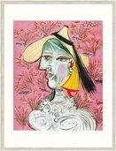 """Bild """"Marie-Thérèse mit Strohhut"""", gerahmt"""