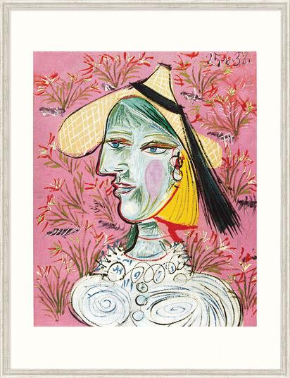 """Pablo Picasso: Bild """"Marie-Thérèse mit Strohhut"""", gerahmt"""