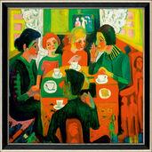 """Bild """"Kaffeetisch"""" (1923), gerahmt"""