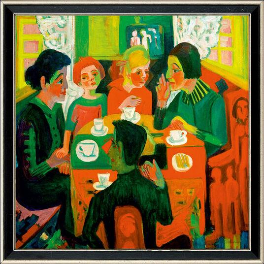 """Ernst Ludwig Kirchner: Bild """"Kaffeetisch"""" (1923), gerahmt"""