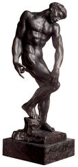 "Sculpture ""Adam or the large shadow"" (1880), bronze artedition"