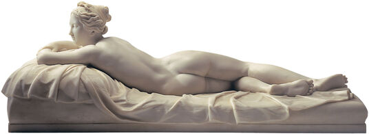"Johann Gottfried Schadow: Sculpture ""The resting girl"" (1826), artificial marble"